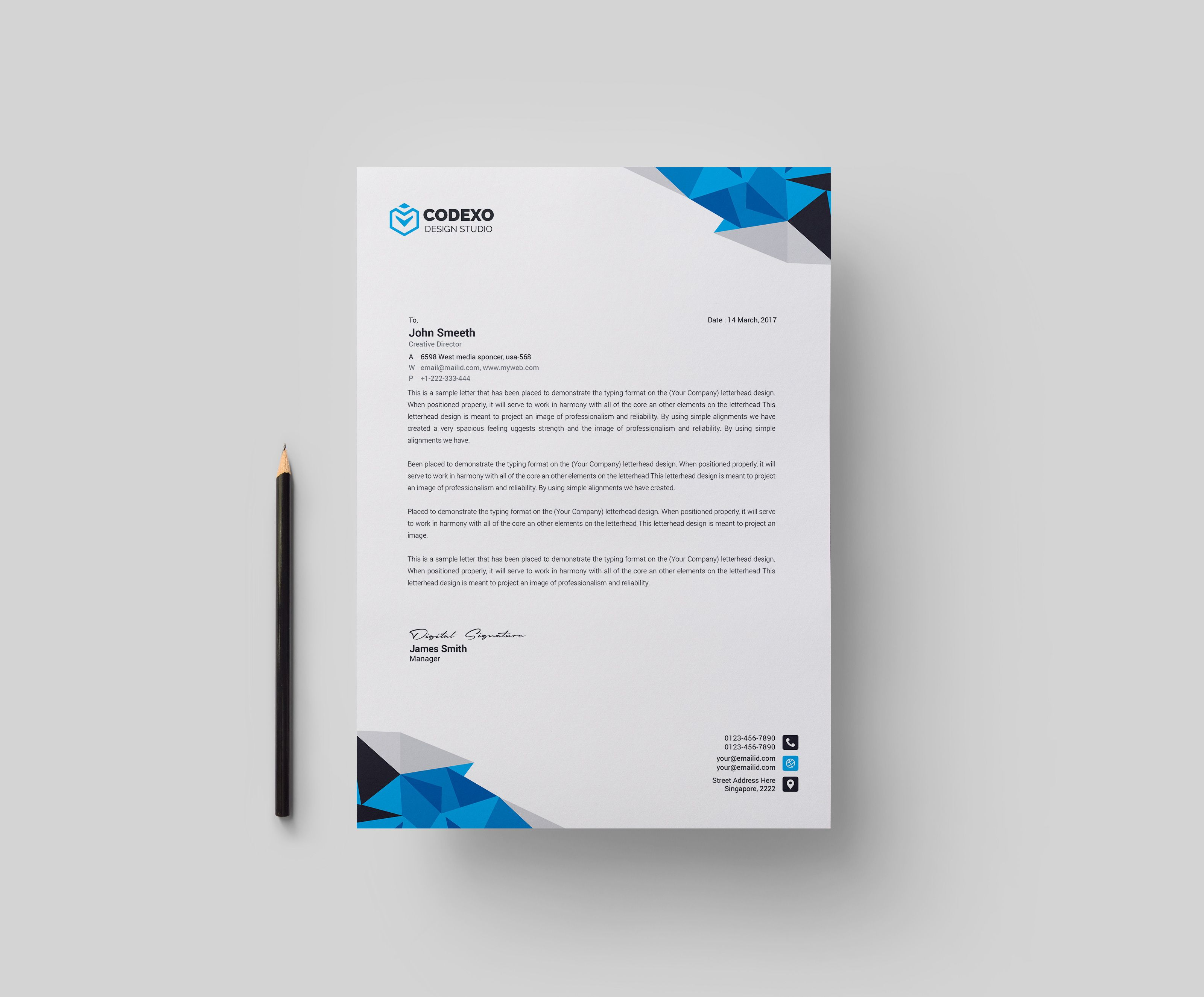 Diamond Professional Corporate Letterhead Template Graphic Templates Company Letterhead Template Professional Letterhead Template Letterhead Template