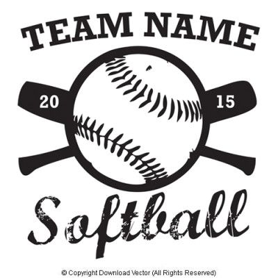 Distressed Softball T Shirt Clip Art By Download Vector