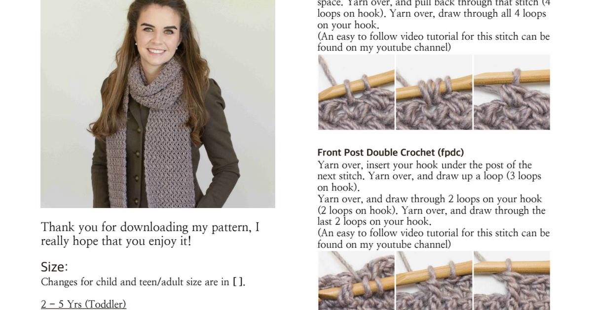 Mulberry Shadow Pocket Scarf Crochet Pattern.pdf | Crochet ...