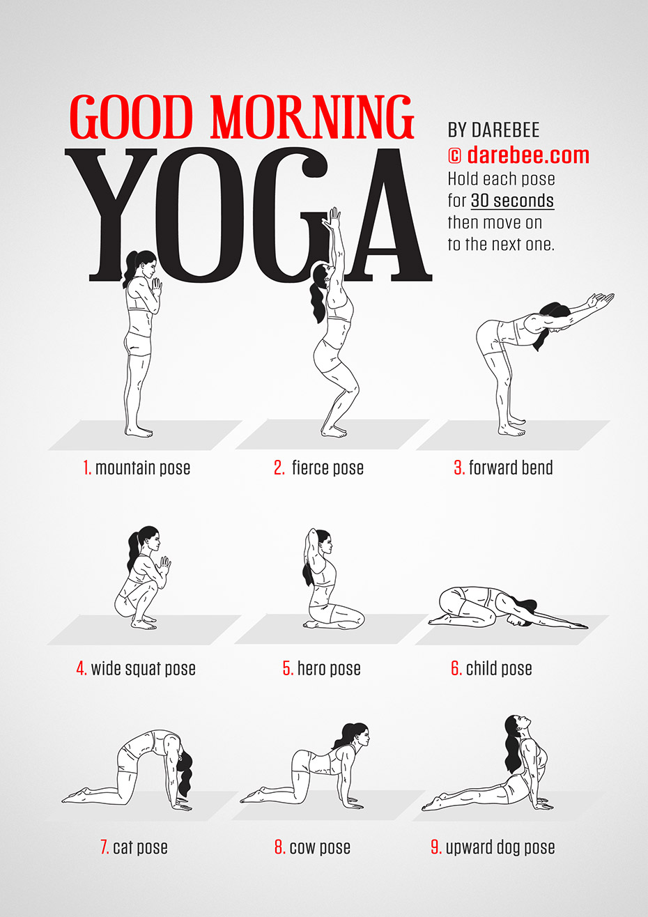 Good Morning Yoga Workout Morning yoga workouts, Yoga