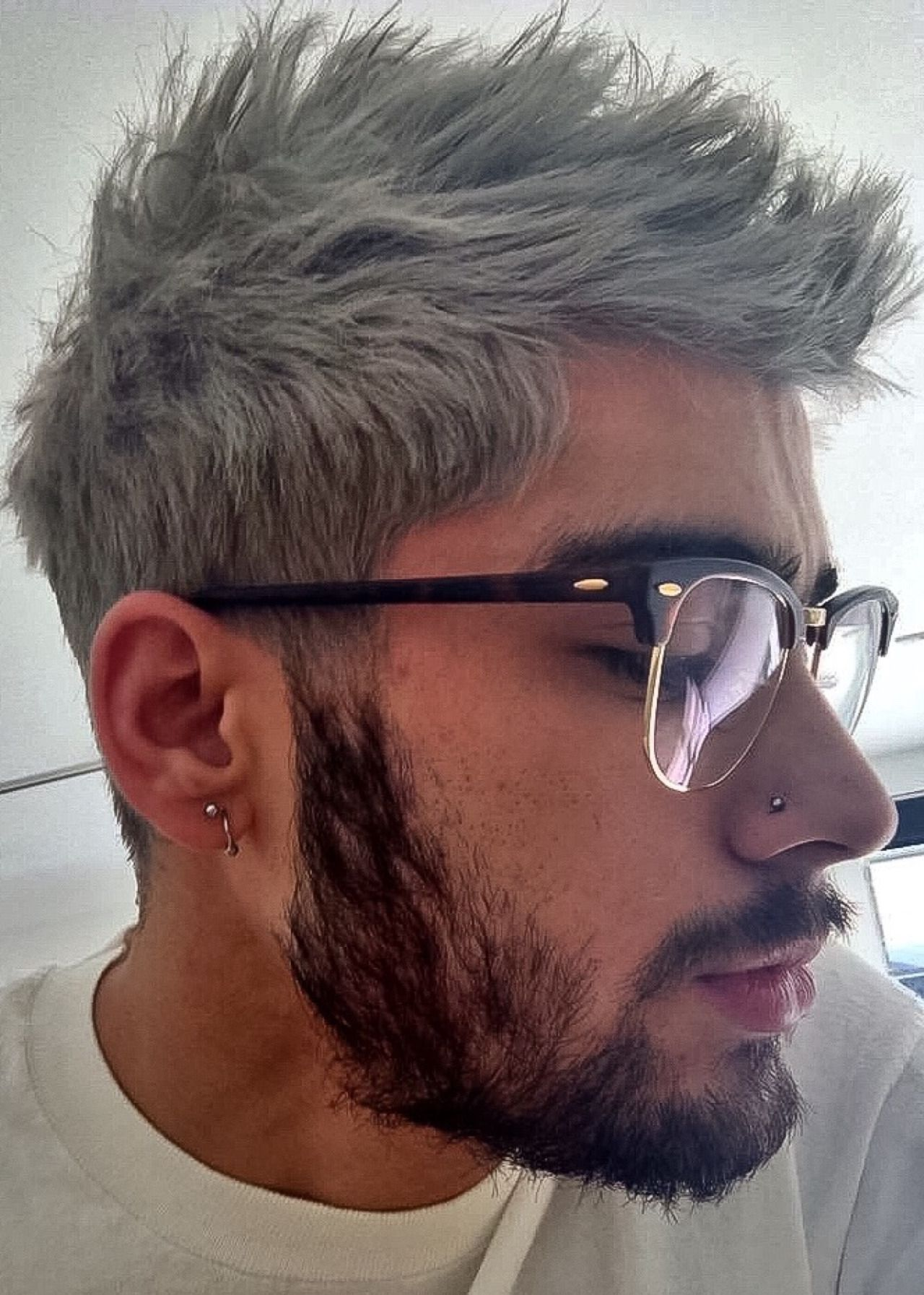Image Result For Hispanic Guy With Dyed Silver Hair White Hair
