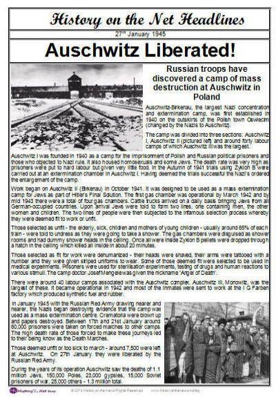 Auschwitz Newspaper Headlines  Having Visited Dachau When I Was