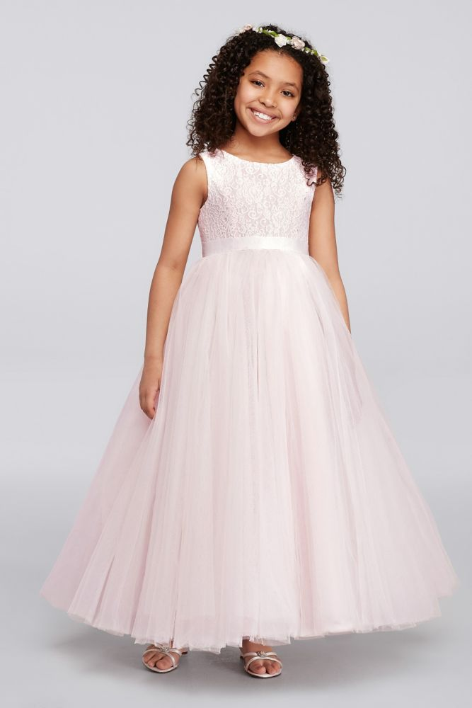 Ball Gown Flower Girl Dress with Heart Cutout - Whisper Pink, 8 ...