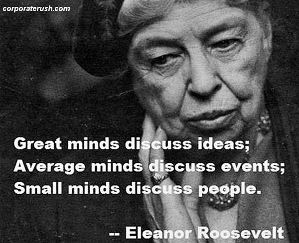 Famous Quotations By Eleanor: Eleanor Roosevelt Quotes On Great