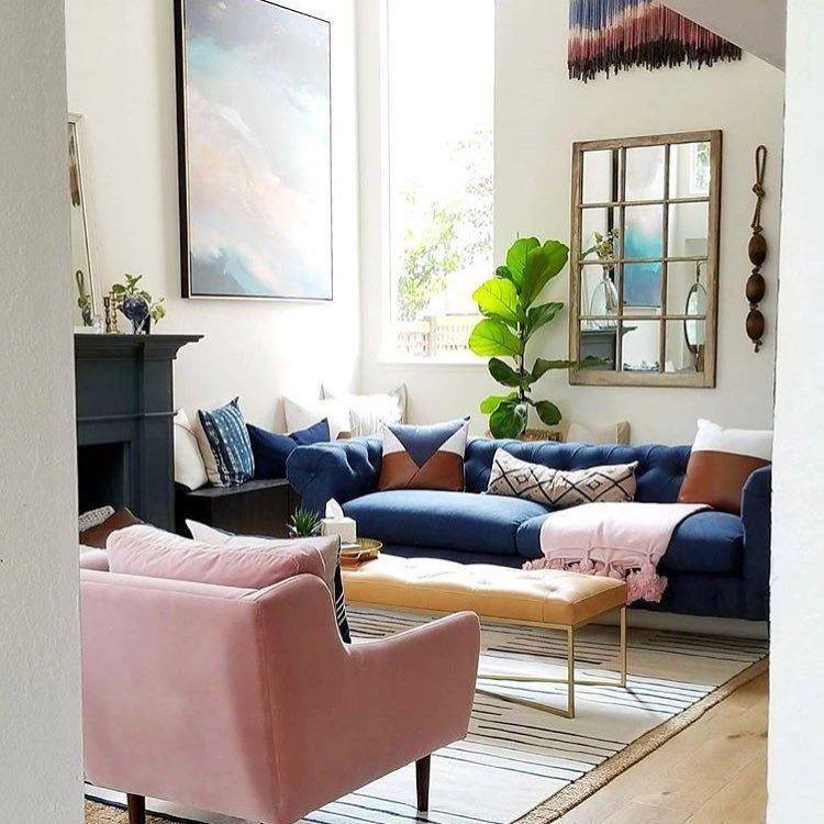 26 6k Followers 737 Following 239 Posts See Instagram Photos And Videos From Eclect Blue Couch Living Room Blue Sofas Living Room Blue And Pink Living Room