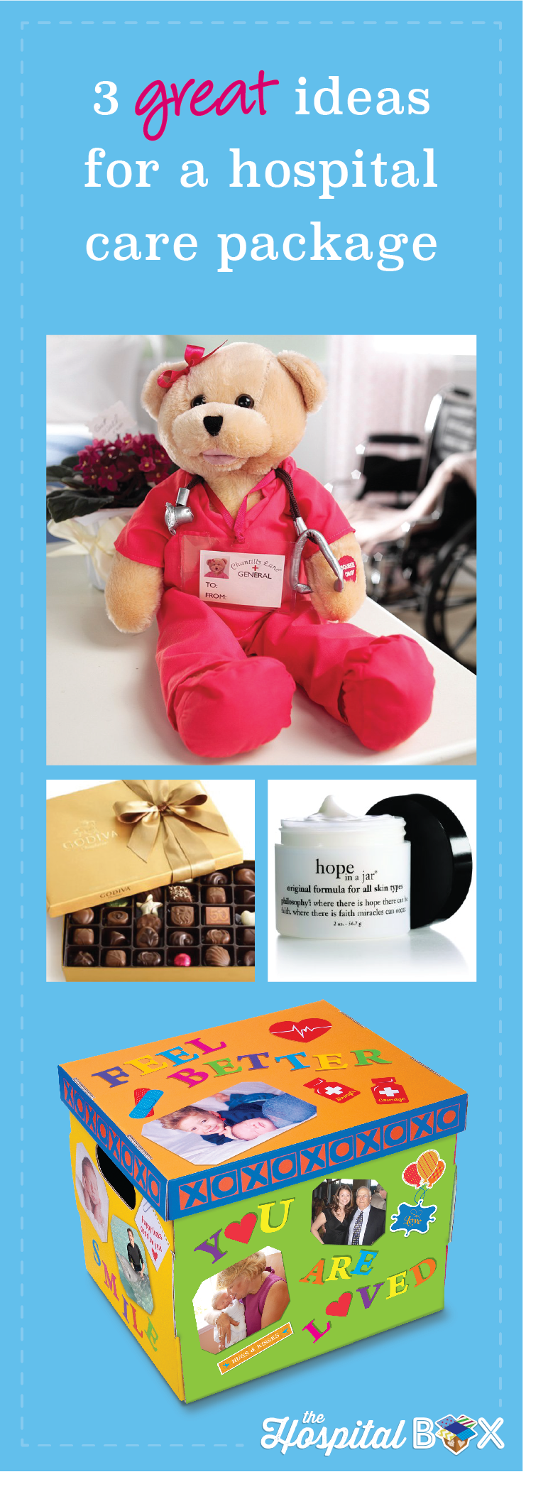 3 Great Ideas For A Hospital Care Package | Hospital care ...