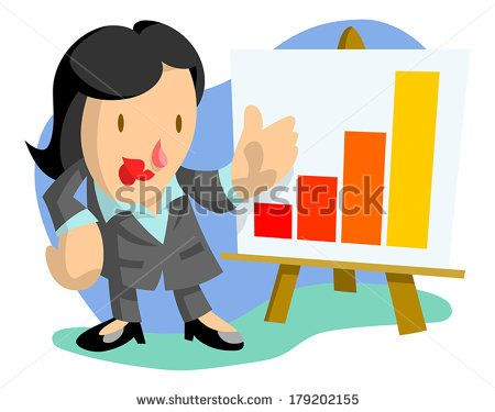 Businesswoman presenting a line graph by AtomicBHB, via Shutterstock