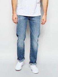 Levis Jeans 501 Original Straight Fit Nero Light Wash