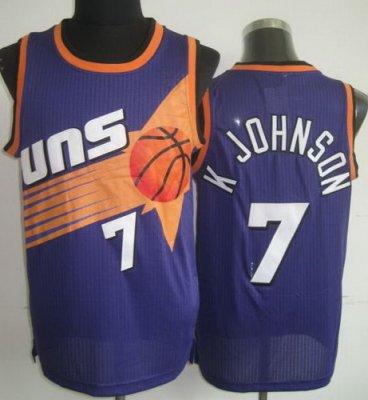 0b82ffd15 Phoenix Suns 7 Kevin Johnson Purple Hardwood Classics Revolution 30 NBA  Jerseys