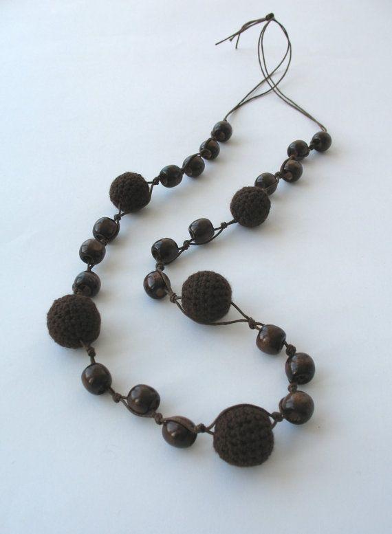 Braunen Perlen Halskette E086 von DreamList auf Etsy   tejido ...