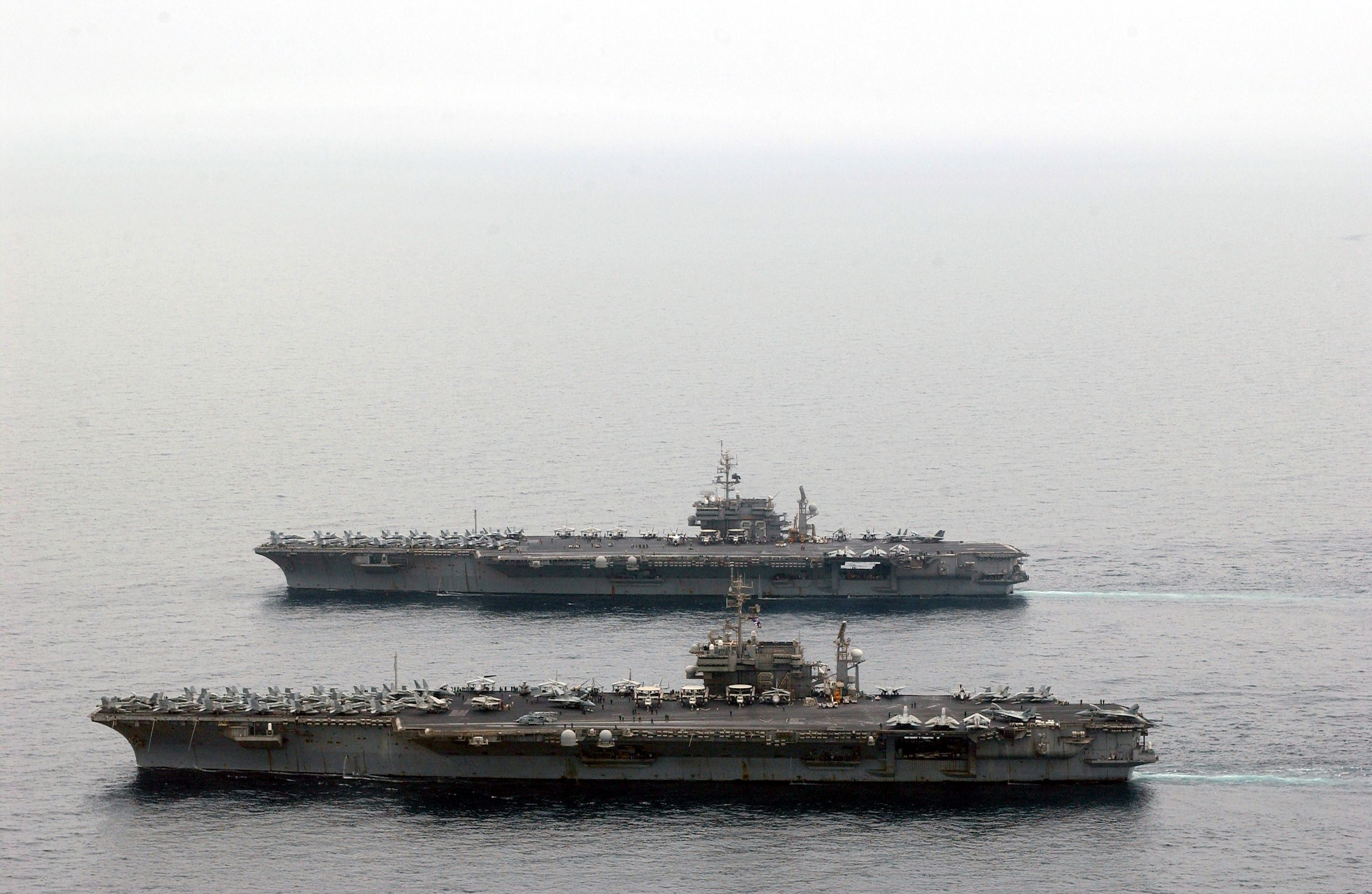 uss constellation  cv-64  and uss kitty hawk  cv-63