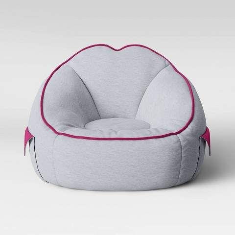 Jersey Bean Bag Chair with Pockets Light Gray - Pillowfort™