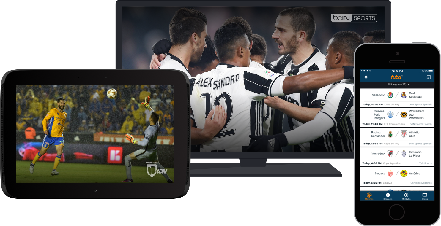 Stream and record live sports and TV from FOX, NBC, beIN