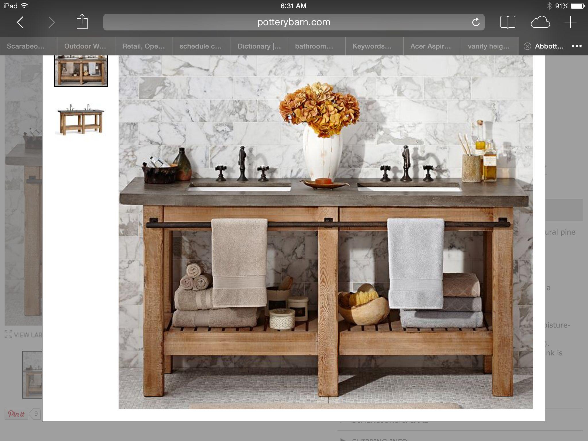 Building this vanity....add vessel sink on top