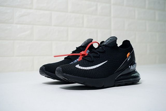 adf0cc37fa92d Authentic OFF WHITE x Nike Air Max 270 AH8050 011 Black White Noir Blanc  Running