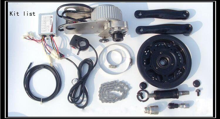 Hot Sale 450w 24v Mid Drive Motor Electric Bicycle Kit E Bike Kit