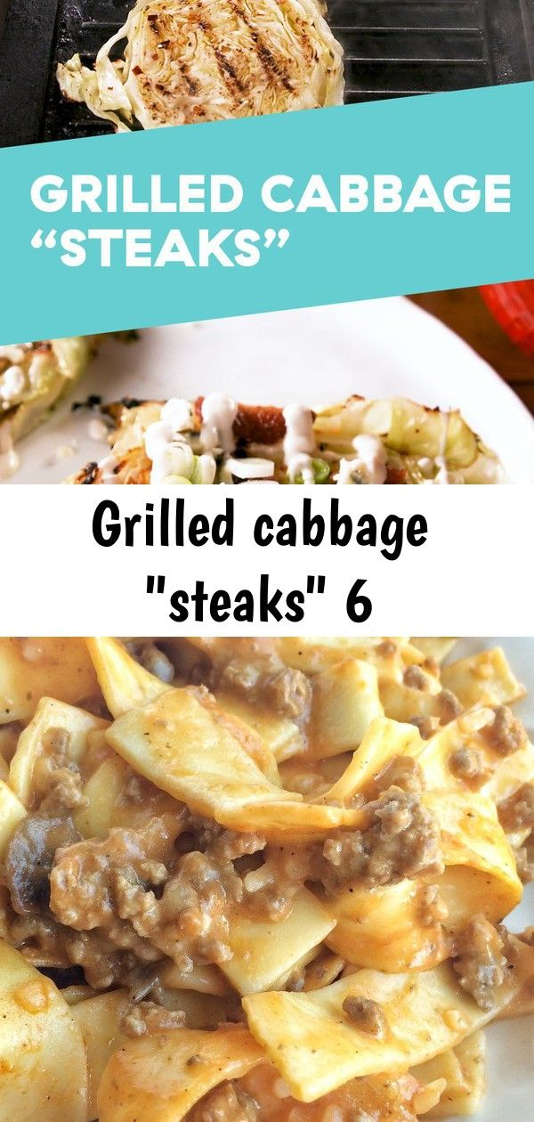 Grilled cabbage steaks 6 Grilled Cabbage Steaks are so good youll forget theyre low carb Get the recipe at  Tomato Beef Country Casserole  Together as Family Ingredients...