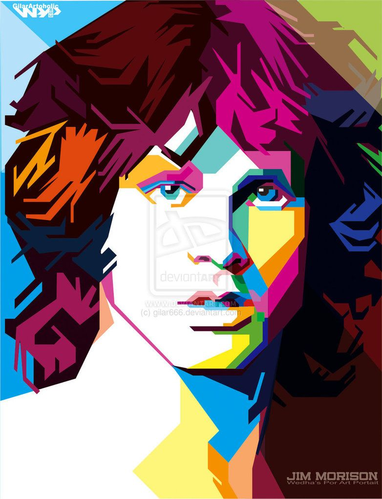 Jim Morrison Pop Art By Gilar666