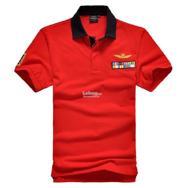f75254a4356e Italian Aeronautica Militare  1 Flags Fashion Men Polo T-shirt ...