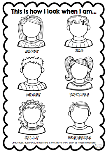 Explore Emotions By Encouraging Your Students To Observe Identify And Draw How The Facial Features C Teaching Emotions Feelings Activities Emotions Activities