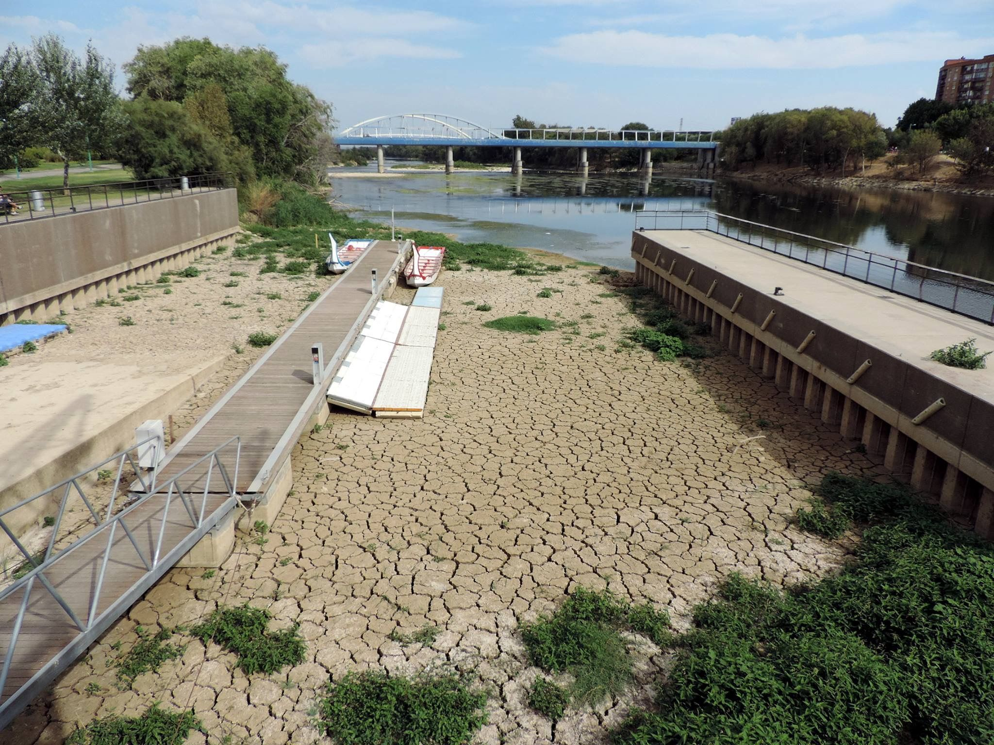 Río Ebro A Su Paso Por Zaragoza Casi Sin Agua Agosto De 2017 Zaragoza Ebro Fotos