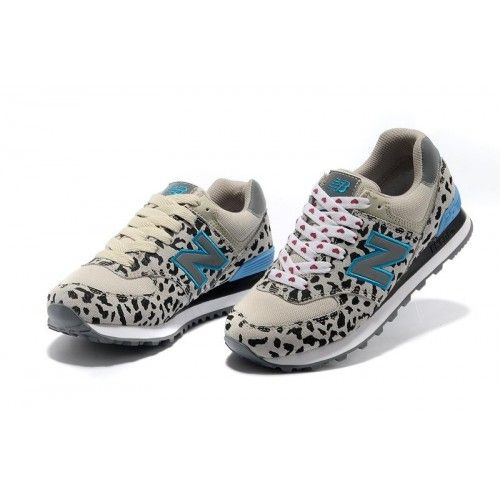 New Balance 574 Leopard Print edition Blue Gray women shoes ...