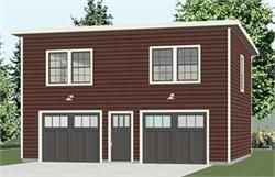 2 story garage with second story apartment or space UNDER 20 ft.