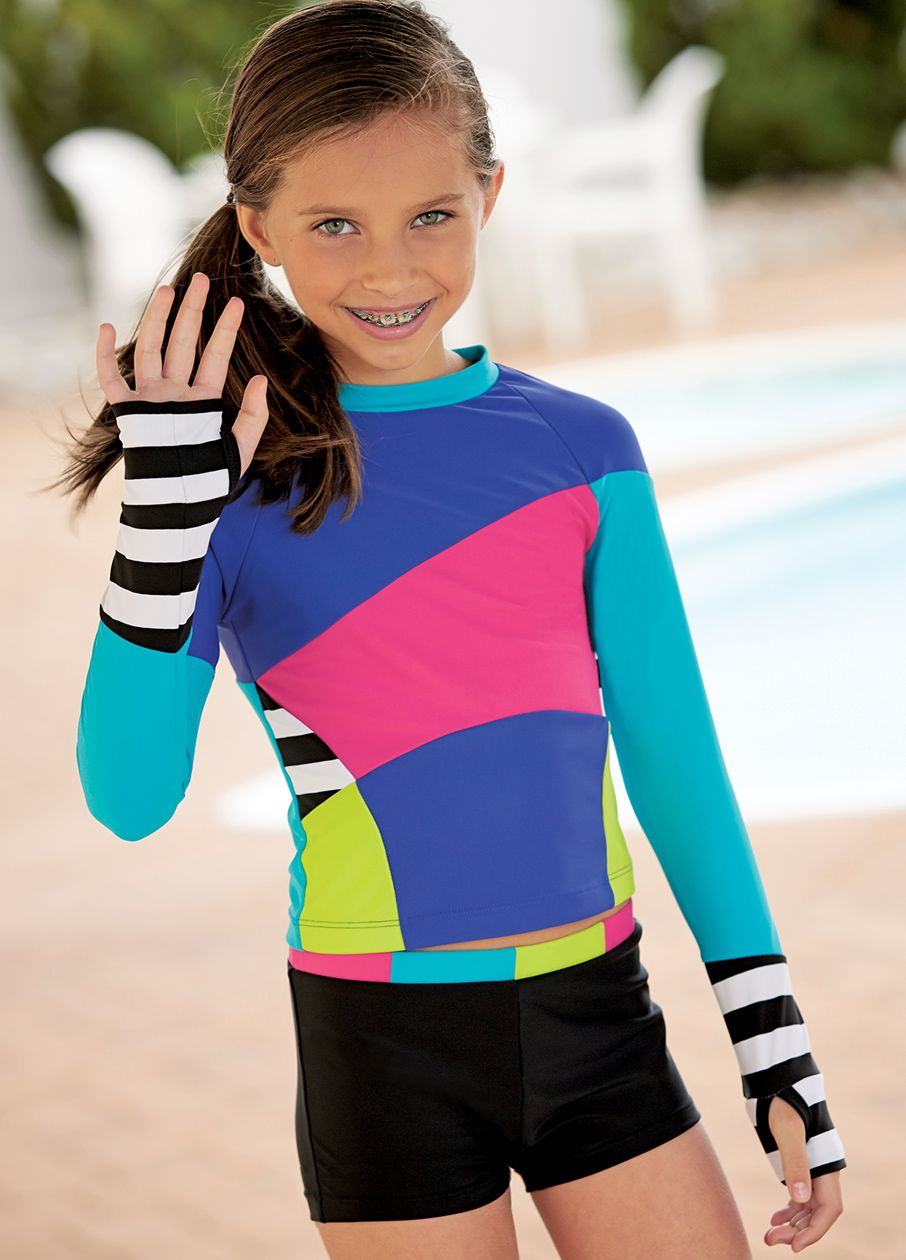 From CWDkids: Multi Color Rash Guard Set