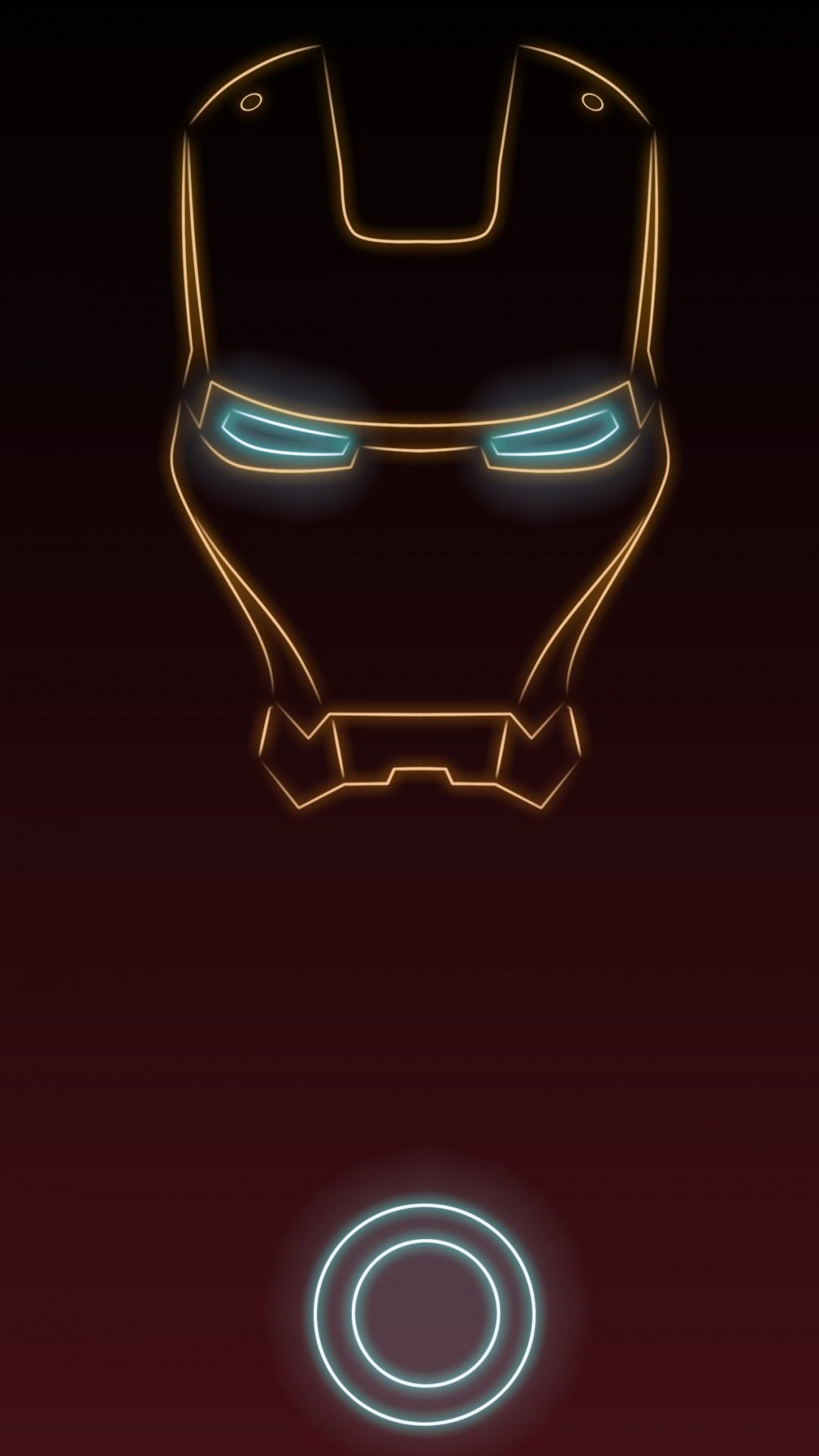 Superhero Neon Wall Lights : Iron man. Tap to see more Superheroes Glow With Neon Light Apple iPhone 6s Plus HD wallpapers ...