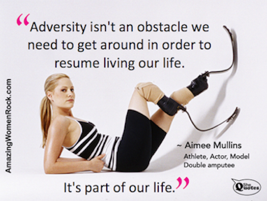 """""""Life is a transformational adversary."""" ~ #SheQuotes #Quote #AimeeMullins"""