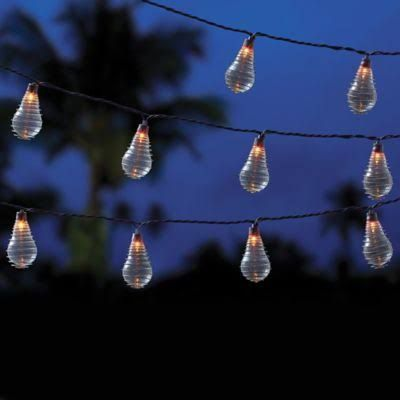 """Vintage 10-Bulb String Lights in Clear, Clear 8"""" X 2"""""""