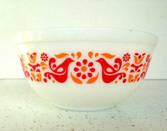 Vintage Pyrex Friendship Mixing Bowl, Nesting Bowl, Friendship Pyrex ...