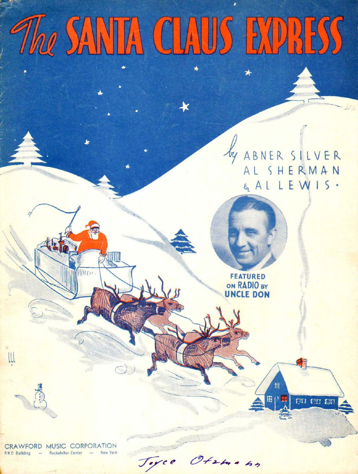 Uncle Don - The Santa Claus Express (1935) | Christmas Sheet Music ...