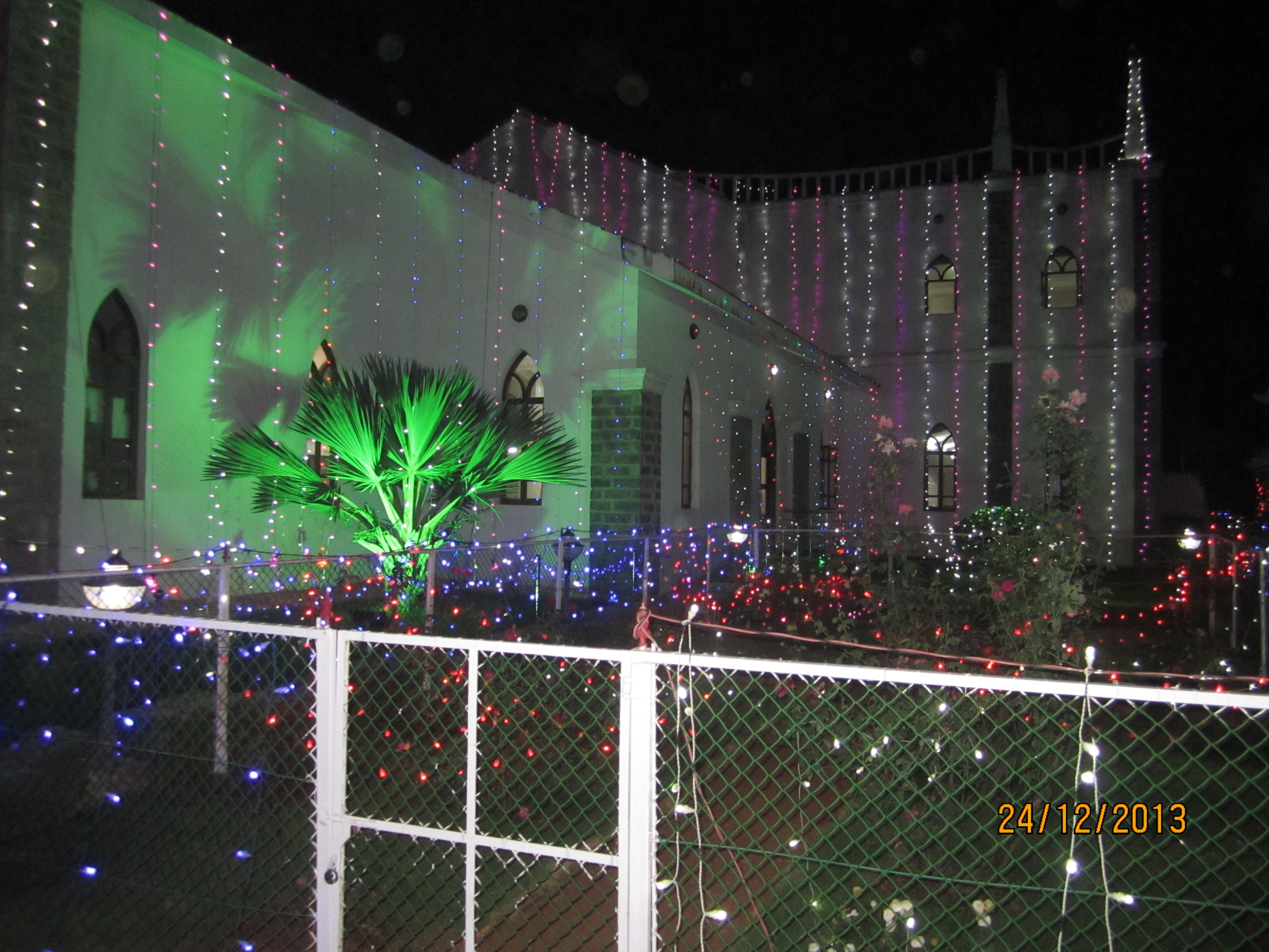 Neyyoor church christmas decoration