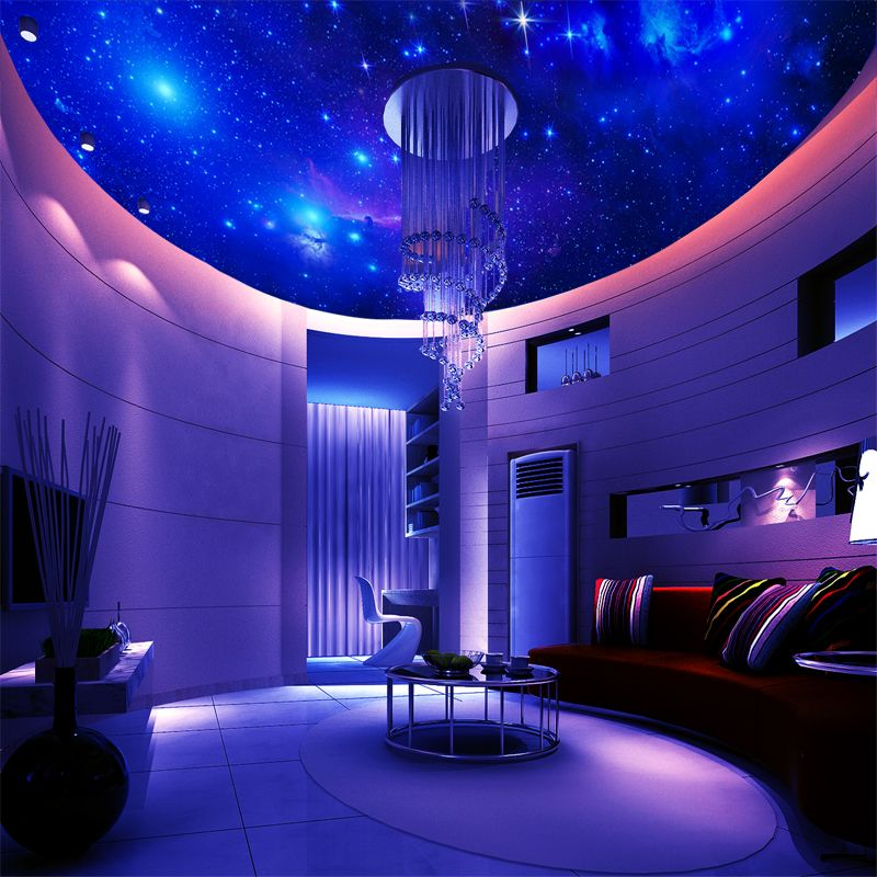 Captivating Wall Still 3D Character Customization Galaxy Star Ceiling Bedroom Theme  Restaurant KTV Room Mural Wallpaper Wallpaper