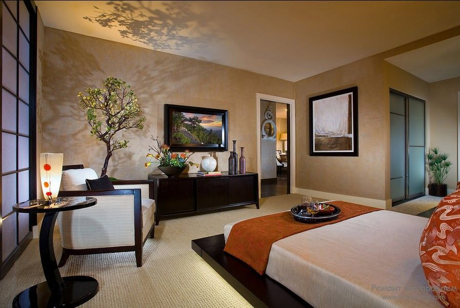 Спальня в мотивах Японии