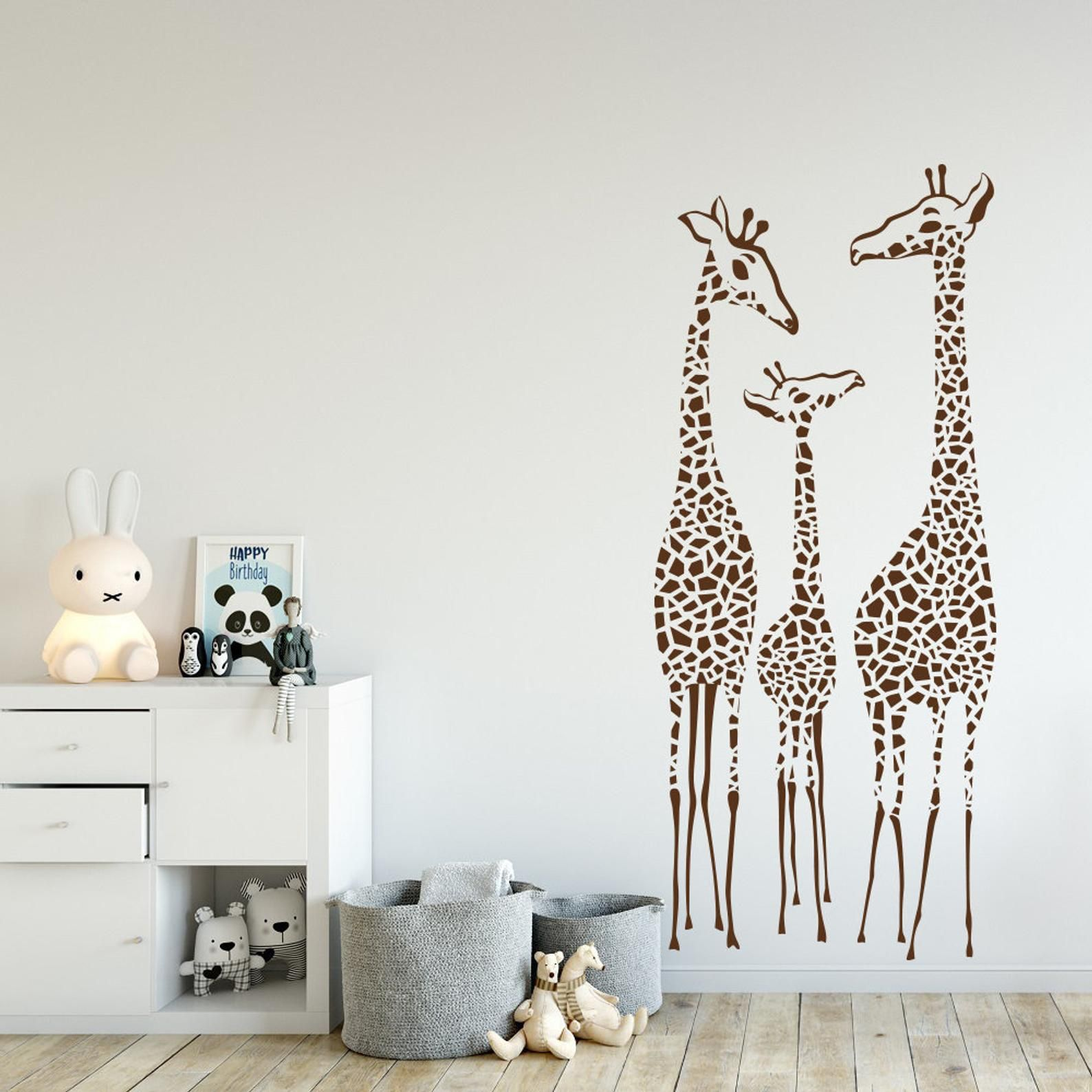 Nursery Giraffe Wall Decal Giraffes Family Wall Decal Etsy Safari Nursery Decals Nursery Decals Family Wall Decals