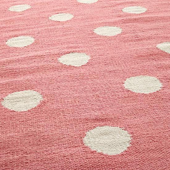 Nuloom Handmade Dotted Trellis Wool Kids Nursery Baby Pink: Lotsa Polka Dots Rug (Pink) In All Rugs