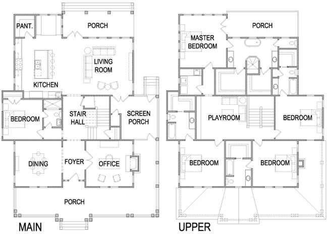 Your Home Youre Home Four Square Homes Remodel Bedroom Square House Plans
