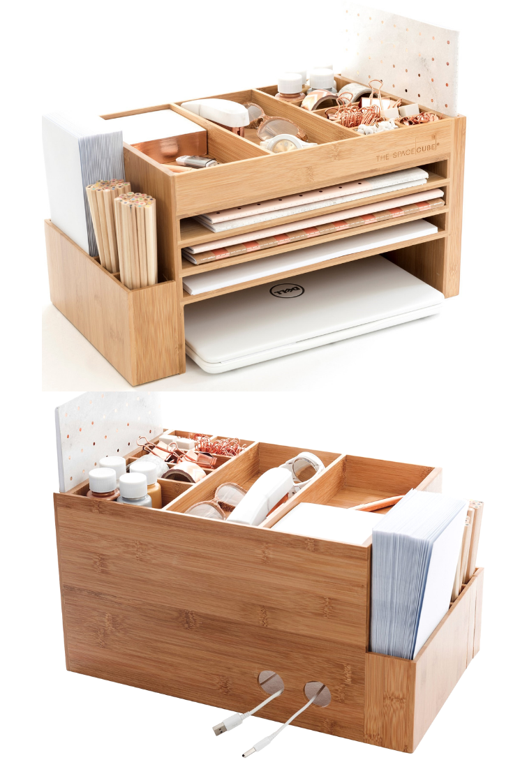 The Space Cube Pretty and Functional Desk Organiser. Store