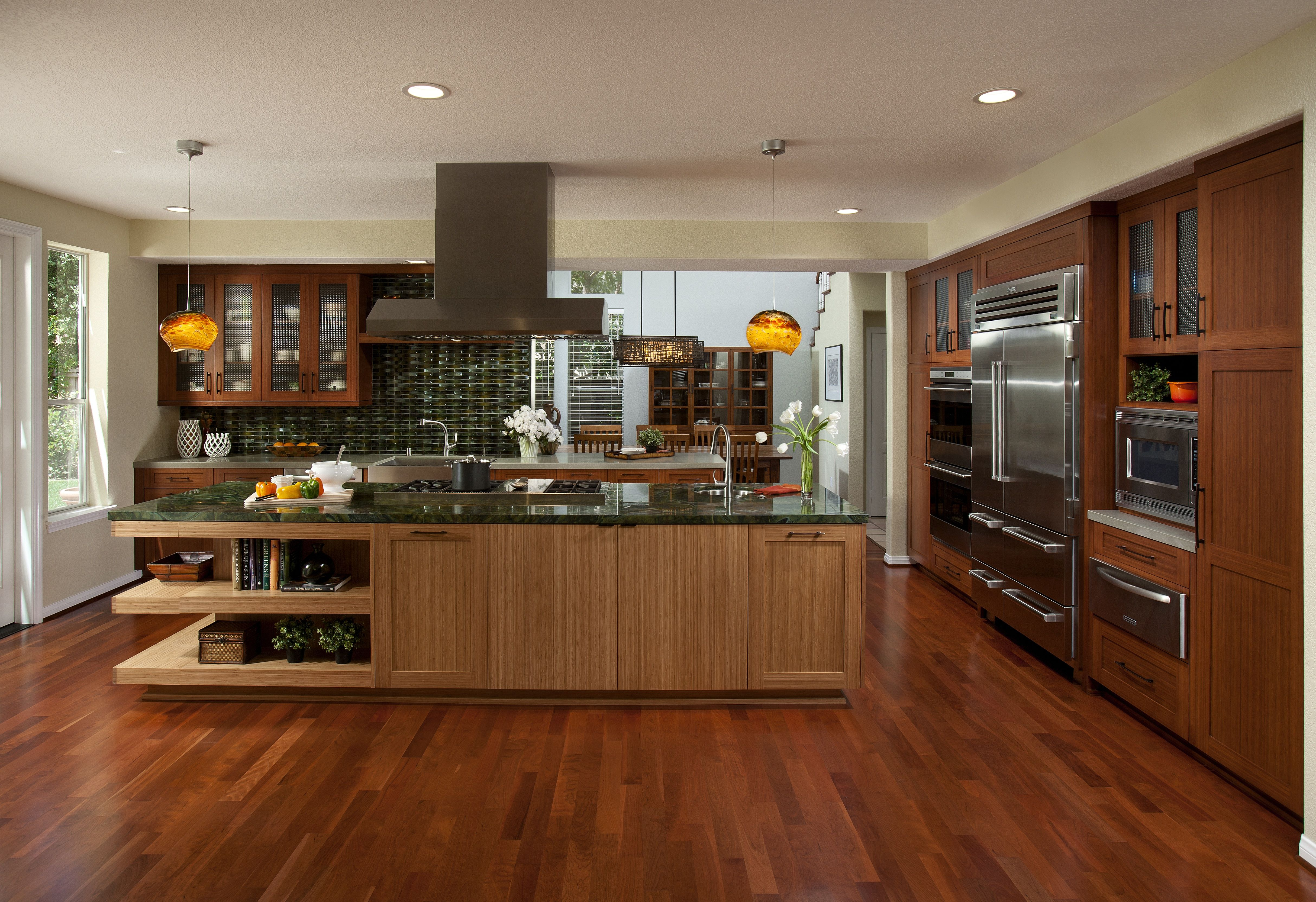 Best Combo Of Light Dark Bamboo I Think So Bamboo Cabinets 640 x 480