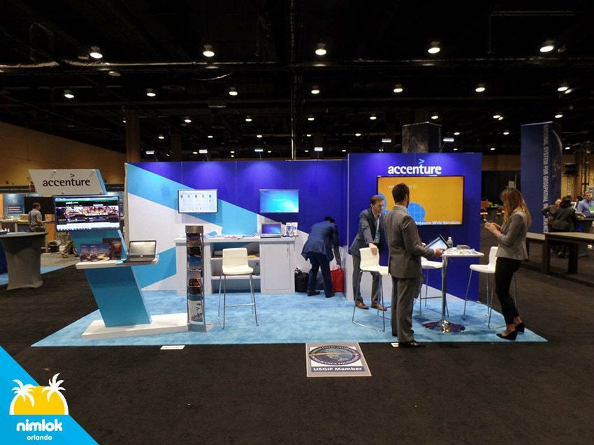 Exhibition Stands In Orlando : Accenture 10×20 10x20 custom trade show booth exhibit nimlok