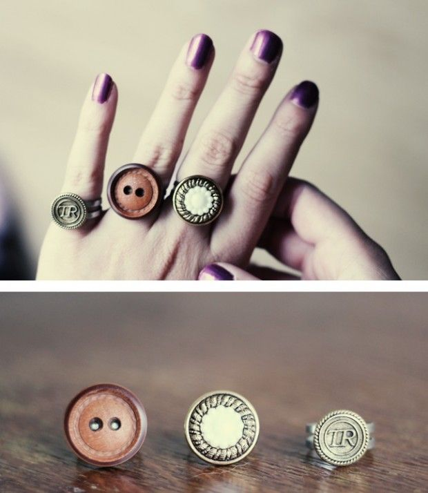 11 Simple Diy Craft Ideas For Adults Diy Button Rings My Supplies Of Buttons Just Doesn T