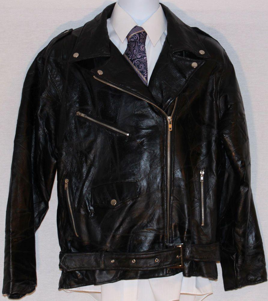 Nwt Black Patchwork Leather Flight Path Asymmetrical Zip Punk Biker