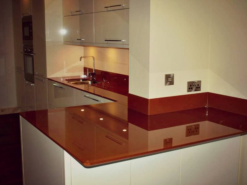 Best Gorgeous Chocolate Painted Glass Worktops And Upstands 400 x 300