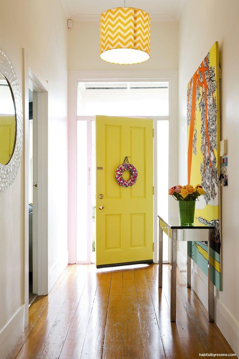 big art in hall | Renno Ideas | Pinterest | Front doors, Doors and ...