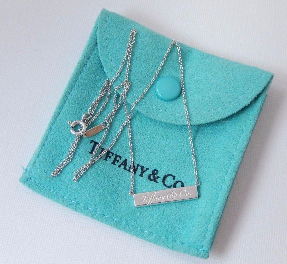 d87ee31ee Tiffany & Co Silver Notes Script Bar 16