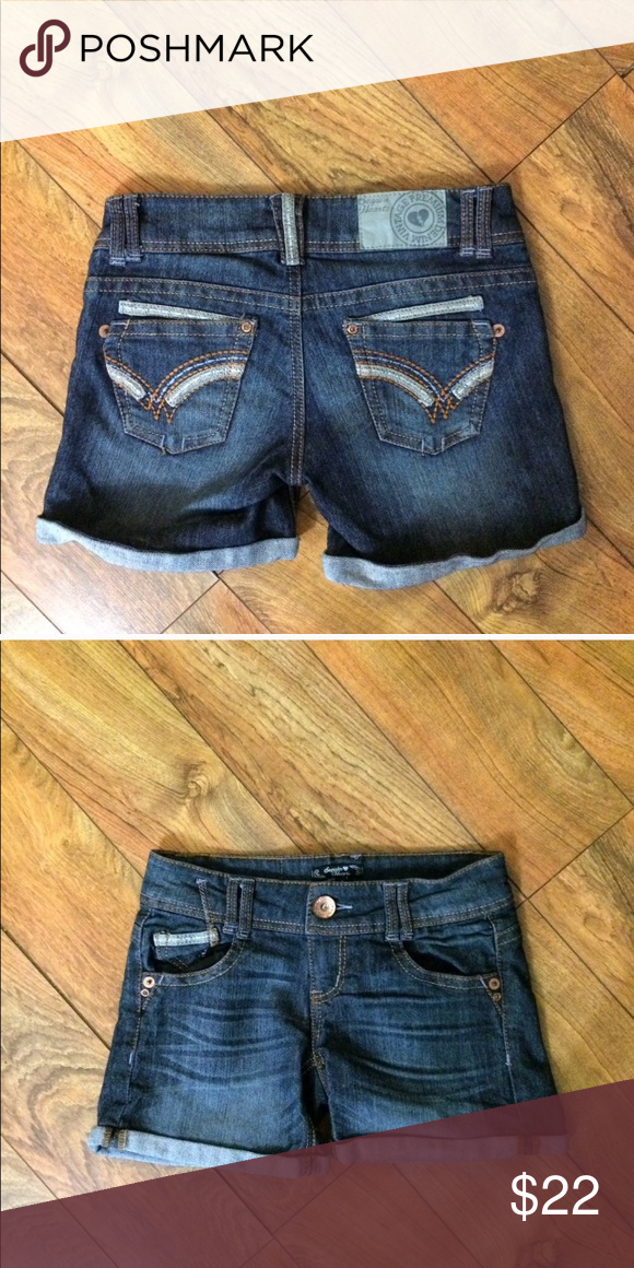 8deabe3dcc Sequins Hearts denim shorts So cute! Sequins Hearts Shorts Jean Shorts