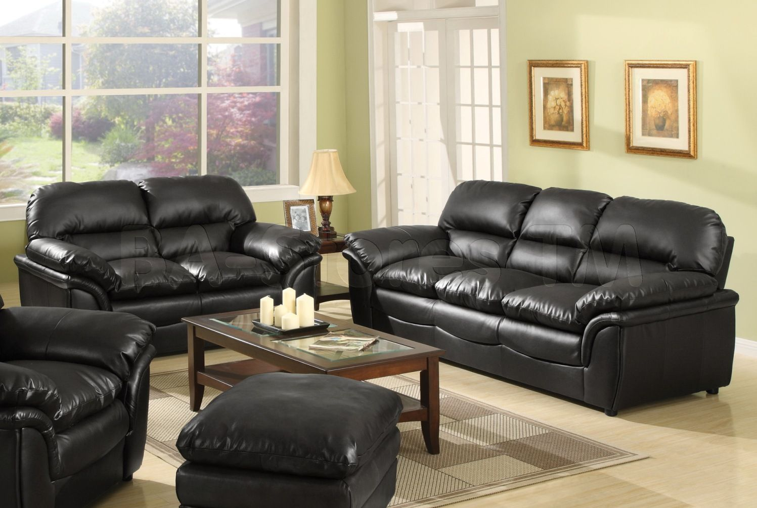 Black Leather Sofa The Best Choice For Charming Living Area Fascinating Black Leather Living Room Furniture Inspiration