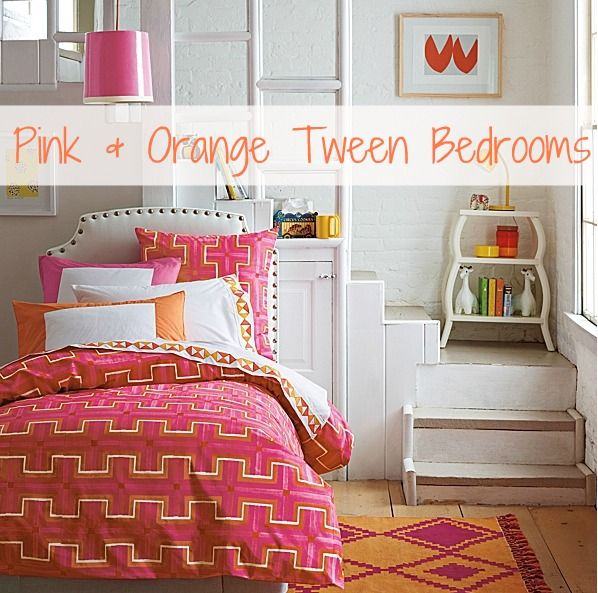 Driven By Decor Pink And Orange For A Girl S Bedroom Tween Room Bedroom Orange Tween Bedroom